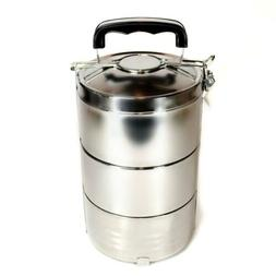 STAINLESS STEEL INSULATED 3 TIER LUNCH BOX 1.8 liter 60 oz B