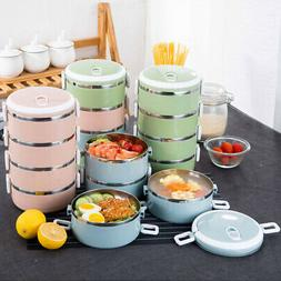 Stainless Steel Insulated Thermal Food Container Bento Round