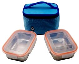 ALLPOOMLOCK Stainless Steel Lunch Box  Bag Divider 14oz 410m