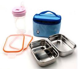ALLPOOMLOCK Stainless Steel Lunch Box Bag Shaker Bottle 14oz