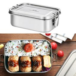 Stainless Steel Lunch Box Metal Bento Box 800ml Food Contain