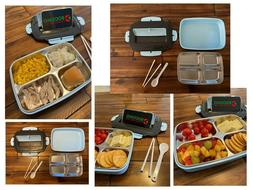 Stainless Steel Thermal Lunch Box Bento Food Container Kids