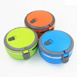 Stainless Steel Thermal Lunch Box Thermos Kids School Hot Fo