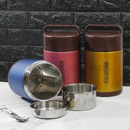 Stainless Steel Vacuum Insulated Lunch Box Jar Hot Cold Ther