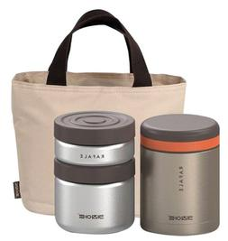 Stainless Thermos Lunch Box Set 1080ml Portable Food Storage