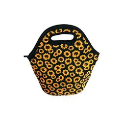 Sunflower Neoprene Lunch Bag Insulated Lunch Tote Bags Boxes