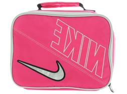 Nike Swoosh Insulated Lunch Box Bag Pink Force White Silver