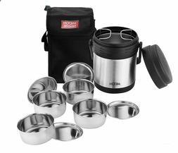 Milton Thermosteel Hot Meal Container Lunch Box, Set of 4,Bl