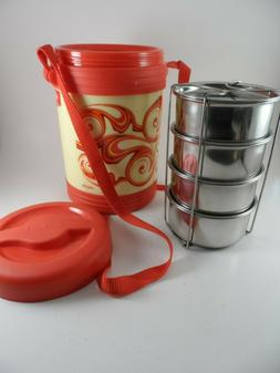 Milton Thermosteel Hot Meal Container Lunch Box Set 4 Pcs