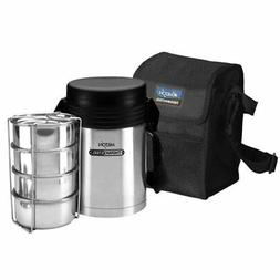 Milton Thermosteel Vacuum insulated 4 Tiffin Lunch Box With