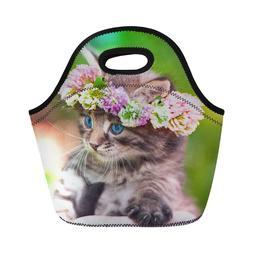 Thicken Lunch Box Handbag for Women Kid School Picnic Cooler