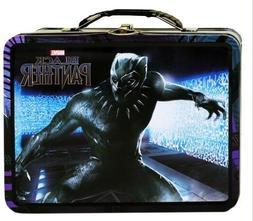 Black Panther Tin Lunch Box Marvel - Black/Purple - NEW !