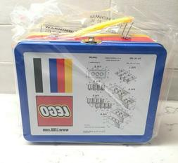 LEGO Tin Lunchbox With Original Lego Brick Patent Sketch 500