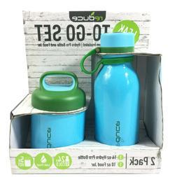 Reduce To Go Bottle And Food Jar Set Leak Proof Vacuum Insul