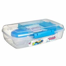Sistema To Go Collection Large Bento Box Plastic Lunch and F