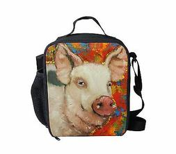 Unique Pig Thermal Insulated Lunch Bag Picnic Lunchbox Schoo