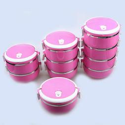 US 1-4Layer Stainless Steel Thermal Insulation Lunch Box Foo