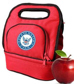 US NAVY Lunch Bag Box Tote Lunchbox for Men Women Boys Girls
