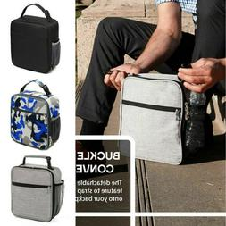 US Women Men Kids Insulated Lunch Bag Thermos Cooler Adults