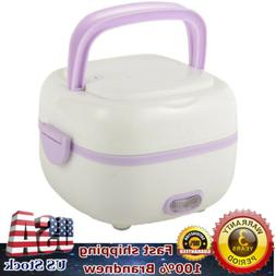 USA Multifunctional Electric Lunch Box Mini Rice Cooker Port