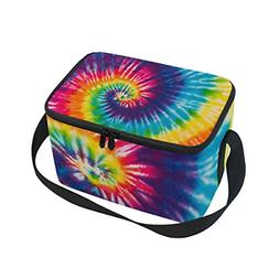 use4 swirl tie dye colorful insulated lunch
