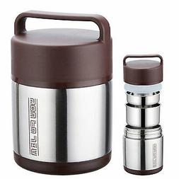 Vacuum Insulated Lunch Box Stainless Steel Jar Hot Cold Ther