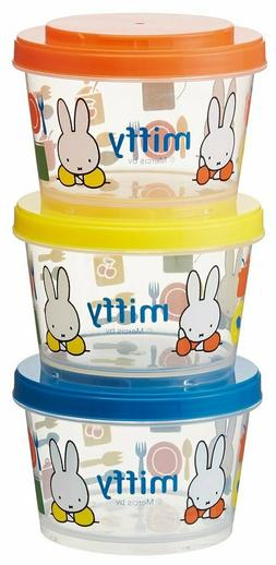 Very Cute Miffy Lunch Box/Container Set of 3 MICROWAVE & DIS