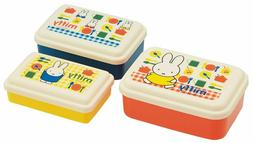 Very Cute Miffy Lunch Box Set of 3 MICROWAVE SAFE MADE IN JA