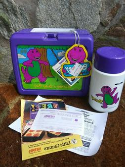 Vintage 1992 Barney and Baby Bop Lunch Box Complete with The