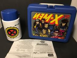 VINTAGE 1994 X-MEN Cartoon Plastic LUNCH BOX WITH THERMOS Ne
