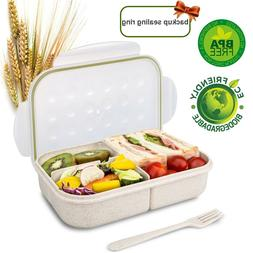 Wheat Fiber Bento Box for Kids Lunch Box Lunch Container for