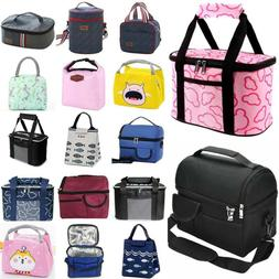 Women Men Kids Lunch Box Thermal Insulated Lunch Bag Tote Fo
