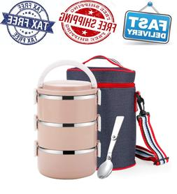 WORTHBUY Stainless Steel Lunch Box, Lock Container and Heat/